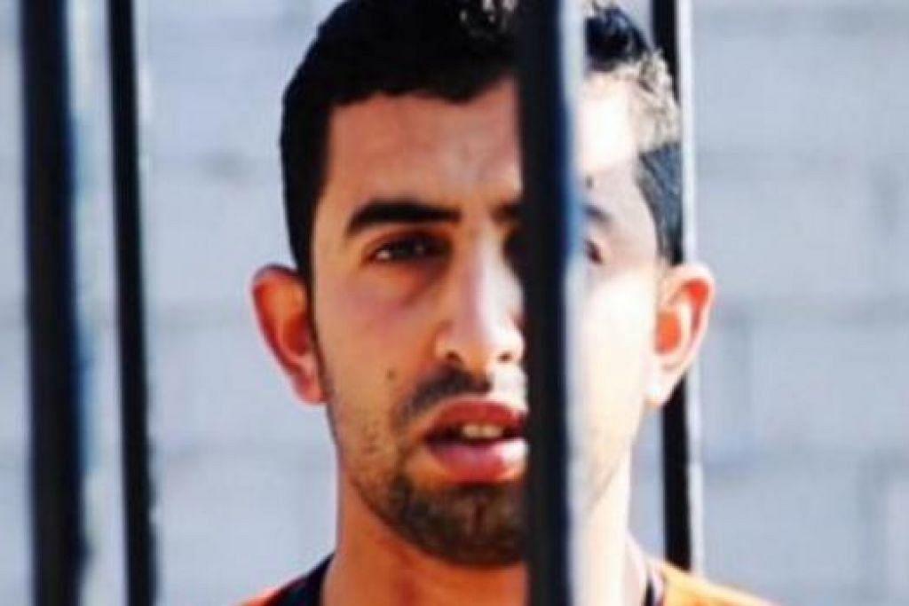 MANGSA ISIS: Juruterbang Jordan ini, Leftenan Mouath al-Kasaesbeh, dibakar hidup-hidup selepas Jordan enggan memenuhi permintaan ISIS. - Foto INTERNET