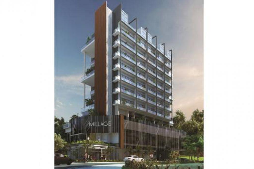 DIBUKA TAHUN DEPAN: Projek Millage@Changi ialah sebuah hab komersial dan kondominium. - Foto MILLAGE