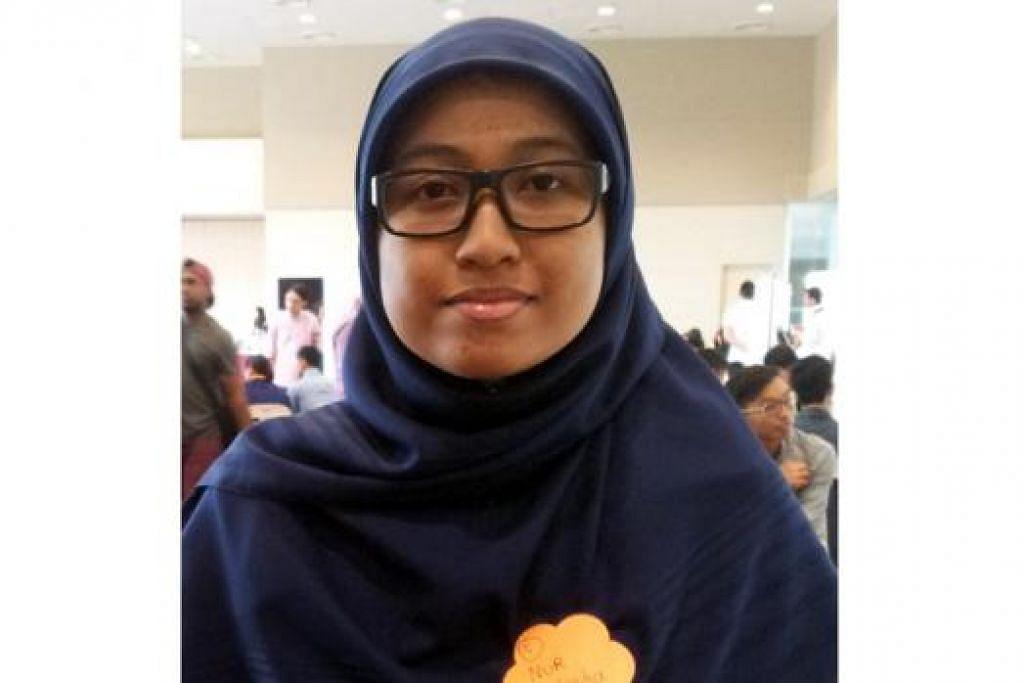 Cik Nur Nasuha Selamat, 21 tahun, Anggota Kumpulan Antara Agama Universiti Nasional Singapura (NUS), Anggota Jawatankuasa Pemandu Belia Kumpulan Keyakinan Kaum dan Agama (IRCC)