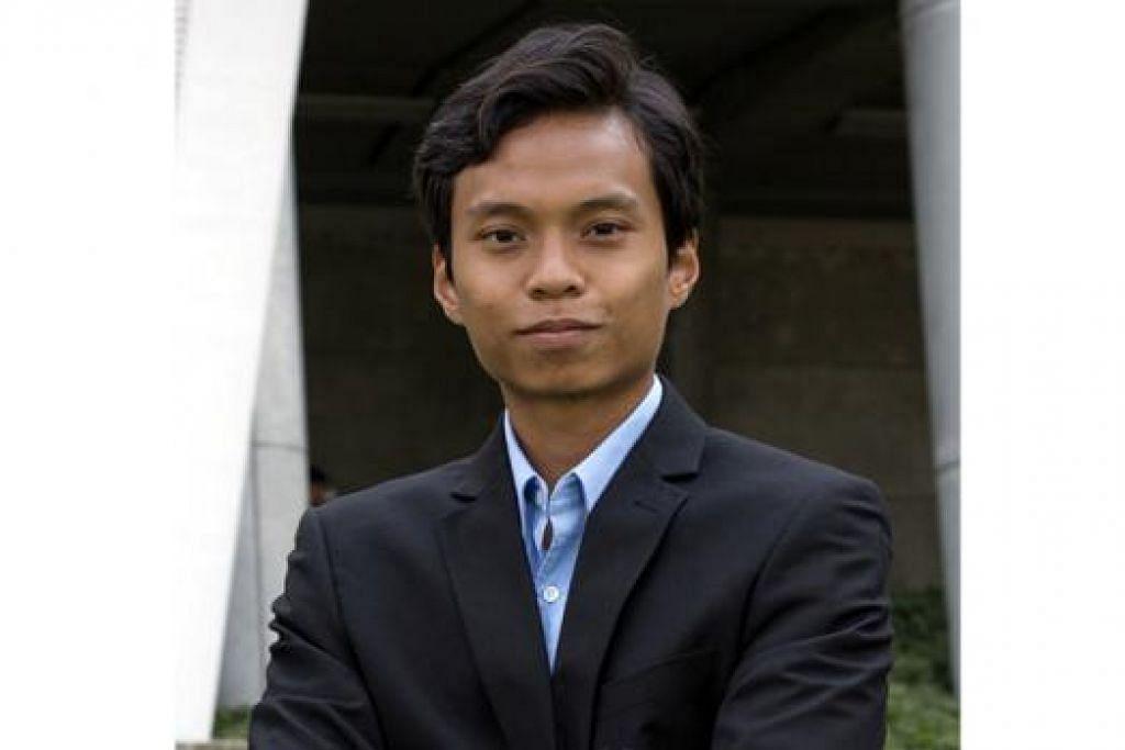 Encik Muhammad Faiz Rosli, 22 tahun, Presiden Persatuan Muslim Universiti Nasional Singapura