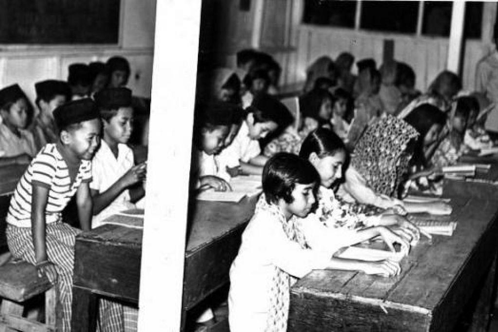 BUSTANOL ARIFIN: Sebahagian murid di Madrasah Persekutuan Bustanol Ariffin yang diasaskan pada 1946 di Coronation Road (Kampung Tempeh). - Foto fail