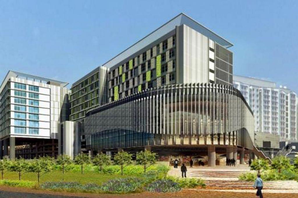 AKAN DATANG: Hospital Besar Sengkang dijadualkan siap dibina menjelang 2018. - Foto SINGHEALTH