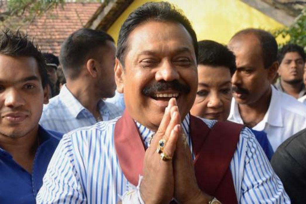 MASIH BERPENGARUH: Encik Mahinda Rajapaksa telah tersingkir dalam pilihan raya Presiden pada 8 Januari lalu. - Foto fail