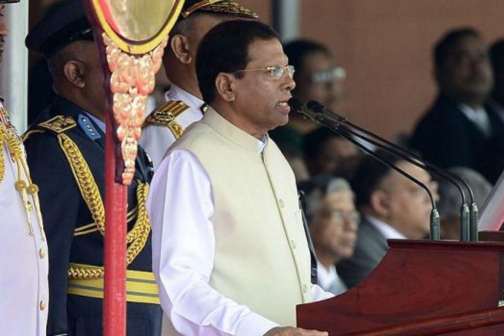 PRESIDEN BARU: Dapatkah Presiden Sri Lanka yang ketujuh, Encik Maithripala Sirisena, yang berikrar akan berkhidmat sepenggal saja, mengharmonikan watan berbilang kaumnya? - Foto AFP