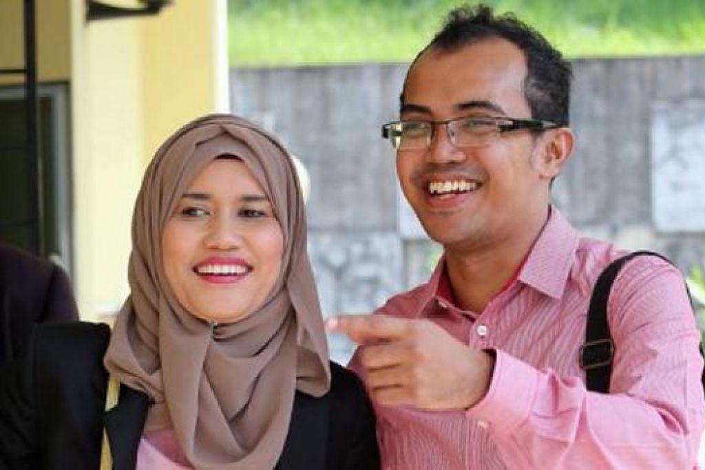 MENGAKU SALAH: Ezad Lazim hadir bersama isterinya, Cik Nur Azeana Ramli, di Mahkamah Majistret Selayang, semalam. - Foto BHM
