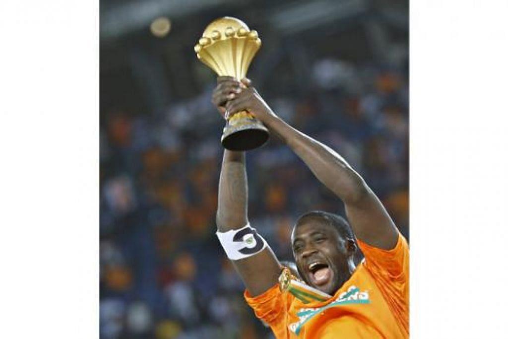 YAKIN BERJAYA: Yaya Toure yakin beliau boleh mengulangi kejayaan ketika bersama Ivory Coast apabila kembali ke Manchester City bagi baki 14 perlawanan terakhir musim ini. - Foto REUTERS