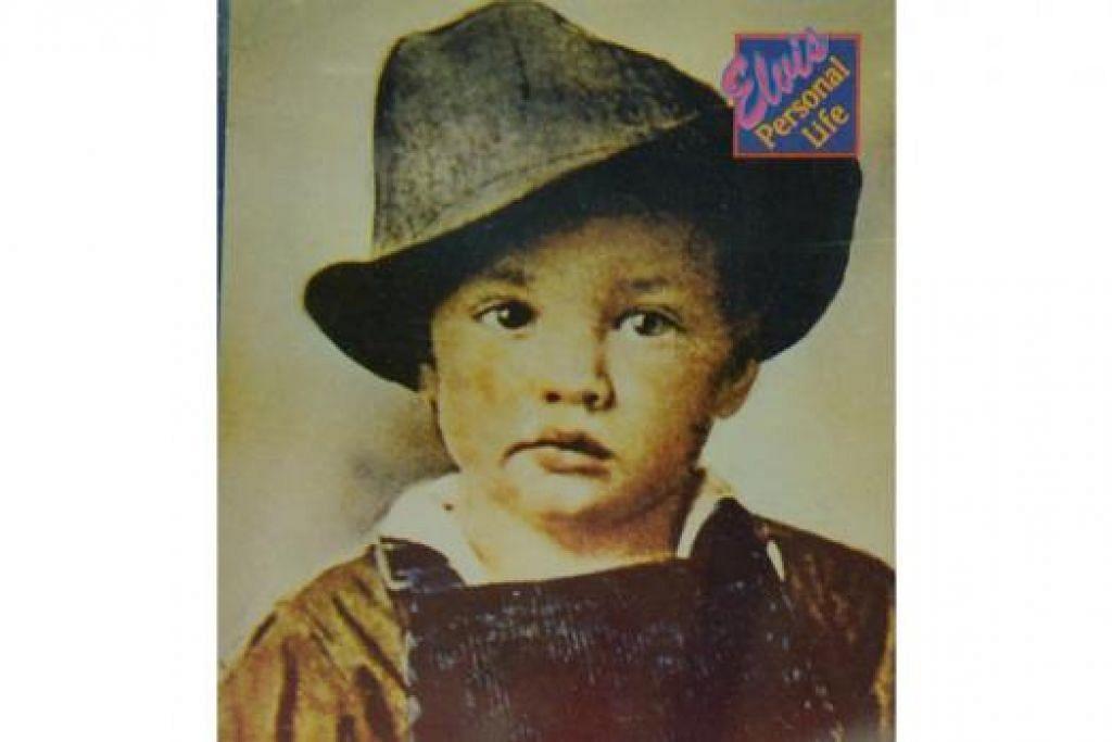 SEMASA KECIL: Gambar Elvis Presley ketika beliau masih kanak-kanak turut dipaparkan.