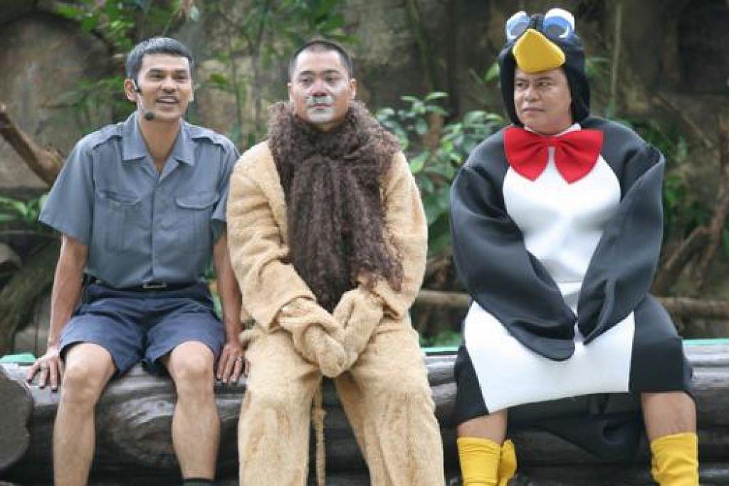 PROJEK ANIMASI: Kumpulan Senario yang dianggotai Mazlan Ahmad (Lan Pet Pet), Abdul Wahid Mohd (Wahid) dan Mohd Azlee Jaafar (Azlee) muncul dengan projek animasi, 'Senario Toons'. - Foto CATHAY