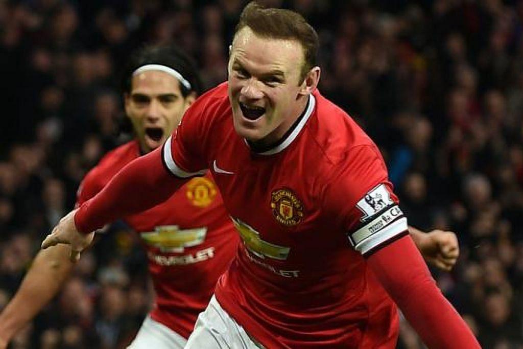 TERUS BERMAIN CEMERLANG: Wayne Rooney masih terus memperlihatkan permainan memberangsangkan di tengah-tengah krisis prestasi yang dihadapi rakan-rakan. - Foto AFP