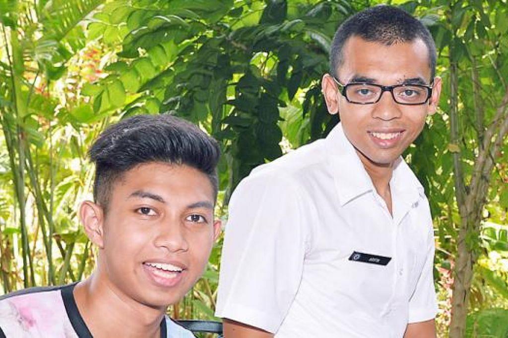 CITA-CITA TINGGI: Muhammad Naufal Zahin Azmi (kiri) bercita-cita menjadi peguam korporat manakala Arifin Mohamad Laili ingin menjadi usahawan dalam bidang kejuruteraan. - Foto-foto KHALID BABA
