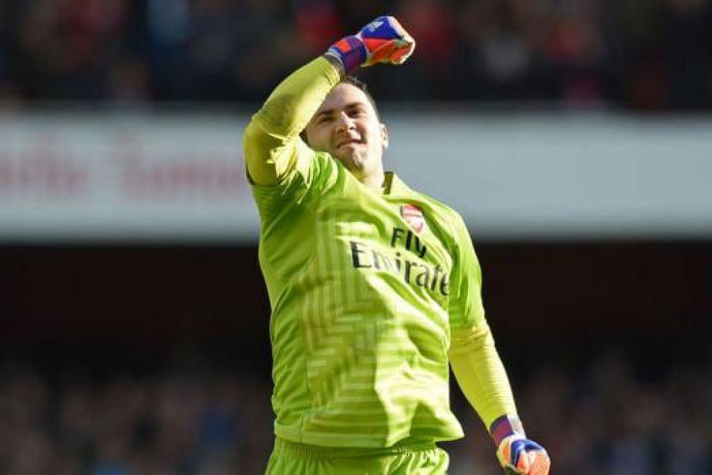 DAVID OSPINA: Luah keyakinan pemain Arsenal sudah dapat melupakan duka kekalahan di tangan AS Monaco dan kini akan memusatkan tumpuan bagi mengekalkan kedudukan di empat tangga teratas Liga Perdana. - Foto REUTERS