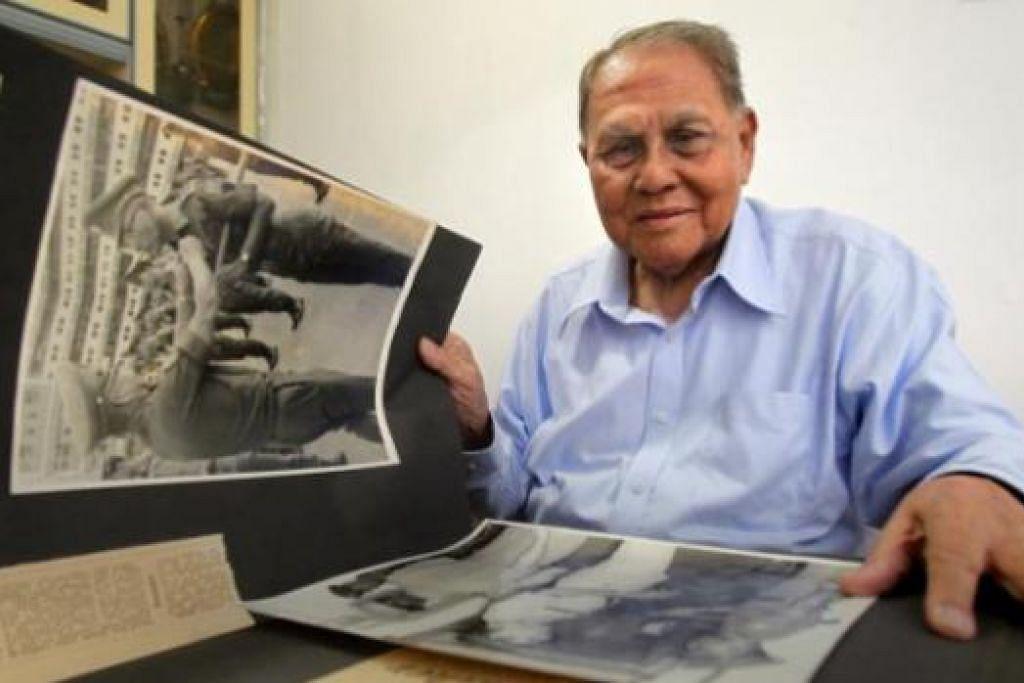 HARGAI JASA PERINTIS: Kapten (Bersara) Shamsuddin Shadan antara perintis yang terlibat dalam meraikan bersama sambutan ulang tahun Angkatan Bersenjata Singapura (SAF) yang ke-50 tahun ini. - Foto fail