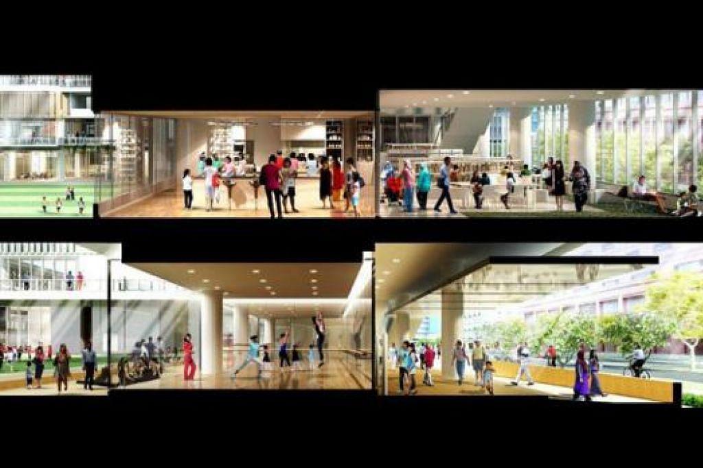 MEMUPUK JALINAN MASYARAKAT: Perpustakaan Daerah Tampines yang akan dipindakan ke Hab Bandar Tampines akan mempunyai banyak kemudahan termasuk studio kulinari bagi memupuk jalinan masyarakat. - Foto PERSATUAN RAKYAT