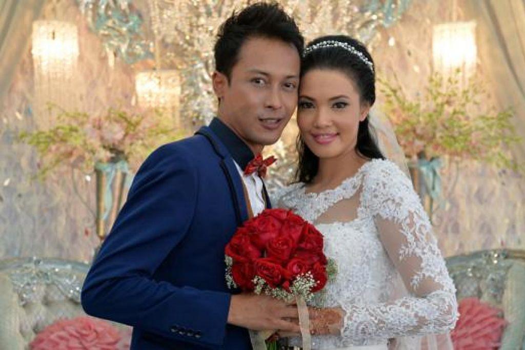 KALAU DAH JODOH, TAK KE MANA: Pasangan pelakon, Faizal Rahman dan Dawn Prima Ria, ke jenjang pelamin hujung minggu lalu selepas melalui detik pertemuan yang mencabar dek pengalaman silam. - Foto M.O. SALLEH