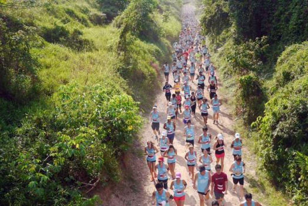 RIADAH DI KORIDOR: Antara acara yang diadakan di Koridor Rel sejak hak milik kawasan berkenaan dipulangkan kepada Singapura lebih tiga tahun lalu termasuk acara lari Green Corridor Run. - Foto URA
