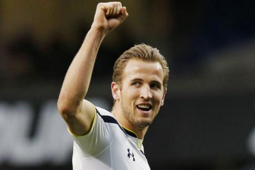 SENTUHAN HEBAT: Hatrik Harry Kane bantu Spurs kutip tiga mata kemenangan. - Foto REUTERS