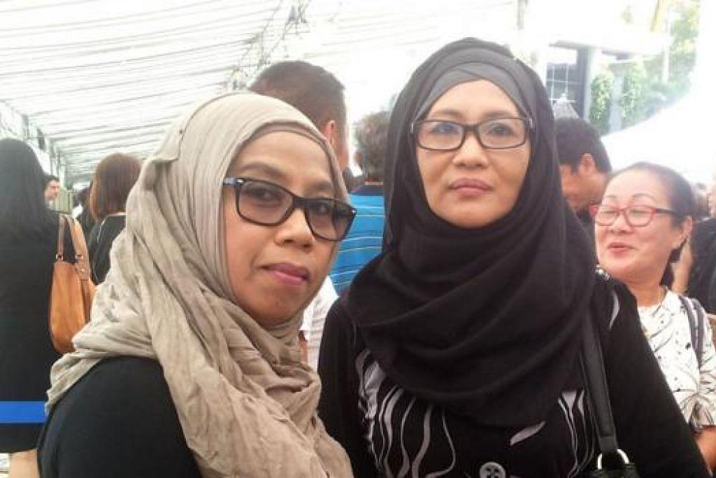CIK SUHANA SULAIMAN (kanan) DAN CIK MISLLIAH TAHIR. - Foto NUR DHUHA ESOOF