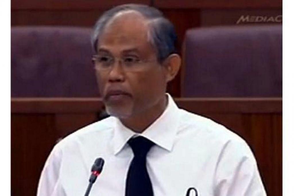 HIBA: Encik Masagos, yang sedih dengan pemergian mendiang Encik Lee Kuan Yew, mengucapkan terima kasih kepada mendiang bagi sumbangannya kepada negara dan masyarakat Melayu/Islam. - Foto CNA