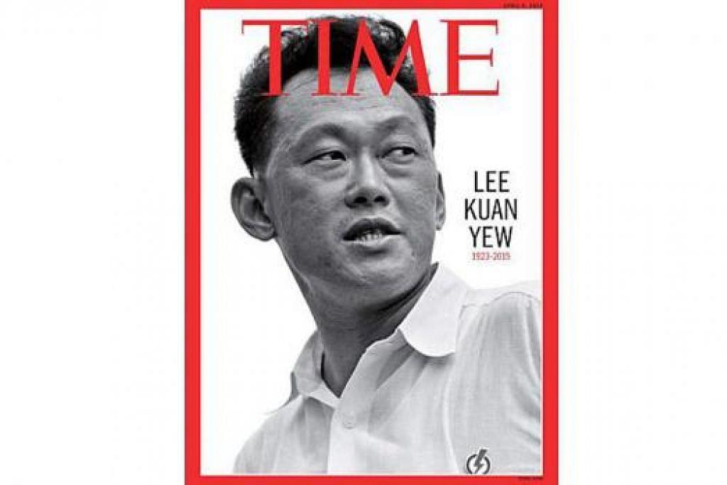 DITAMPIL LAGI: Encik Lee Kuan Yew ditampilkan di muka depan majalah Time buat kali kedua. Kali pertama ialah pada 2005.