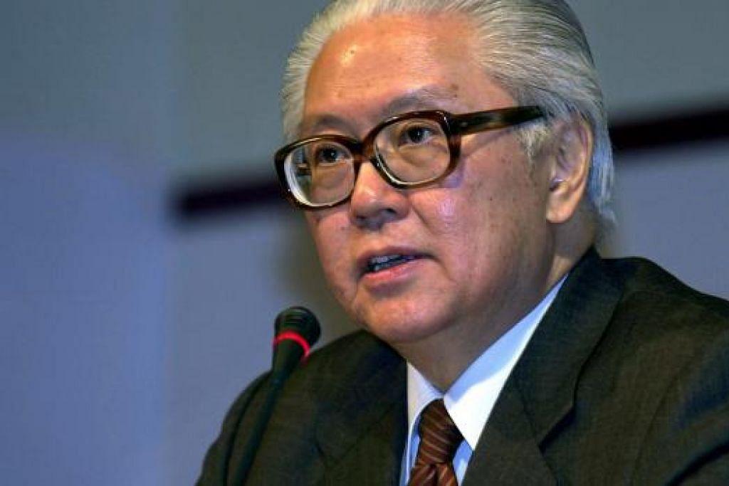 BELASUNGKAWA PRESIDEN: Dr Tony Tan menyifatkan mendiang Lee Kuan Yew sebagai orang yang berperanan penting dalam memastikan pemerintah Singapura bebas rasuah. - Foto (ST)