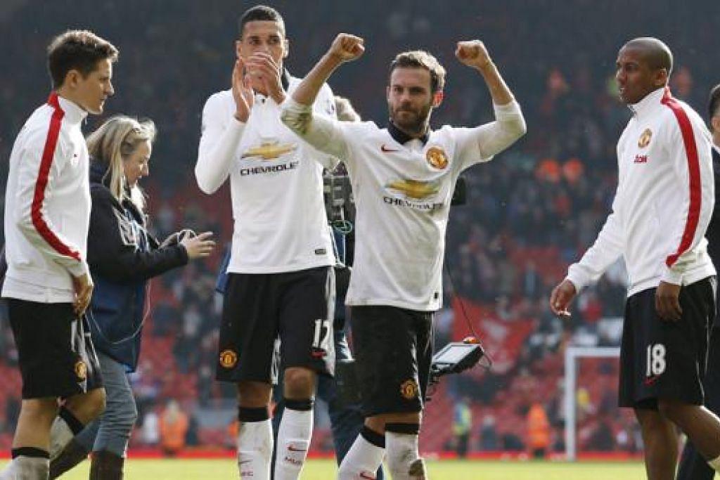 DALAM TANGAN: Kelayakan ke Liga Juara-Juara musim depan dalam tangan United. - Foto REUTERS