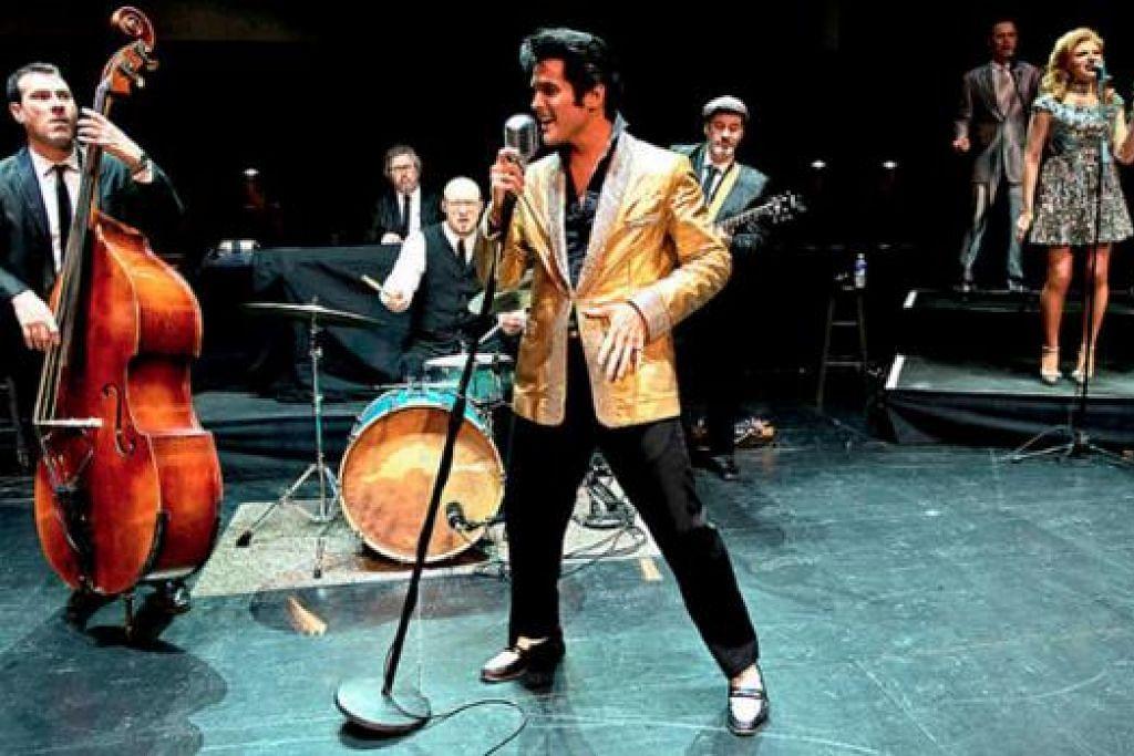 ELVIS MUNCUL SEMULA: Memandangkan Elvis Presley tidak pernah berkonsert di rantau Asia, 'The Ultimate Tribute to Elvis Legends In Concert' memberi peluang keemasan menikmati perjalanan hidupnya. - Foto MARINA BAY SANDS