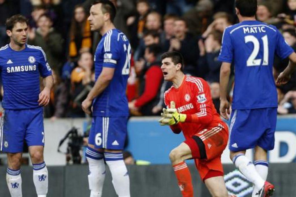 KIAN HAMPIR: Pemain Chelsea dijangka menewaskan Stoke tengah malam nanti, memperkukuh kedudukan di persada EPL. - Foto AFP