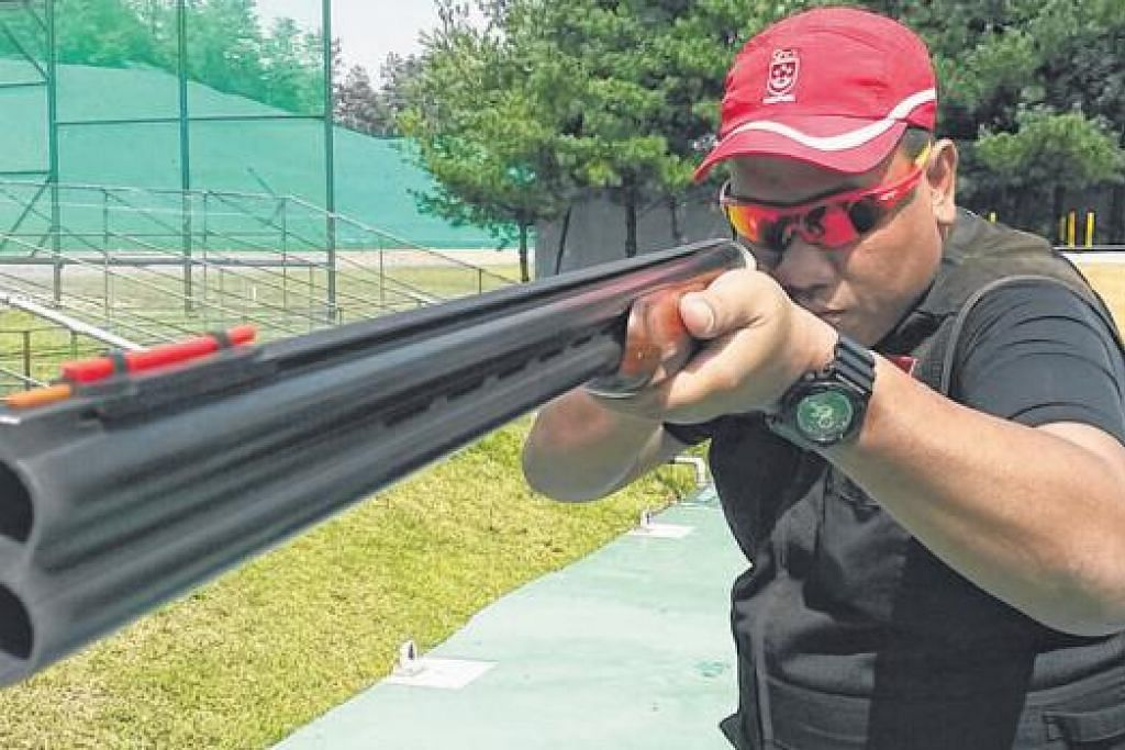 PENGALAMAN ISTIMEWA: Penembak berpengalaman, Mohd Zain Amat, akur beraksi di temasya yang bakal berlangsung di halaman sendiri tentunya satu detik istimewa bagi atlit setempat sepertinya. – Foto-foto ihsan MOHD ZAIN AMAT