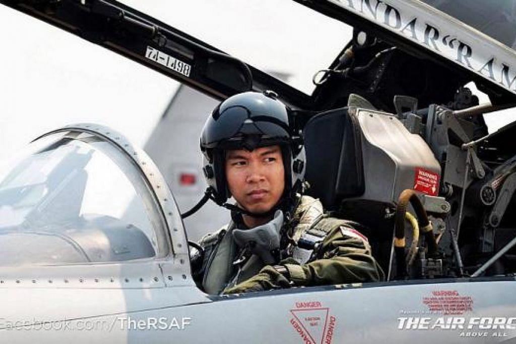 NASIHAT KAPTEN: Kapten Muhammad Iskandar nasihatkan juruterbang yang masih baru dengan XCT supaya menganggapnya sebagai laluan pembelajaran. – Foto RSAF FACEBOOK