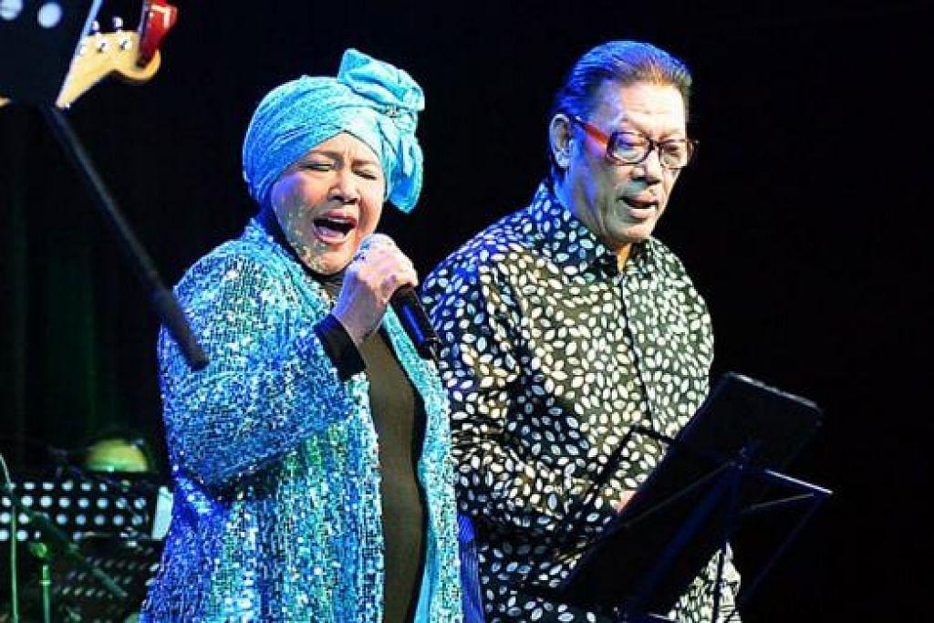 TEMAN SEIRING JALAN: Rahimah Rahim meminjamkan vokal bertenaganya dengan berduet bersama Horace dalam lagu 'Peristiwa Remaja'.