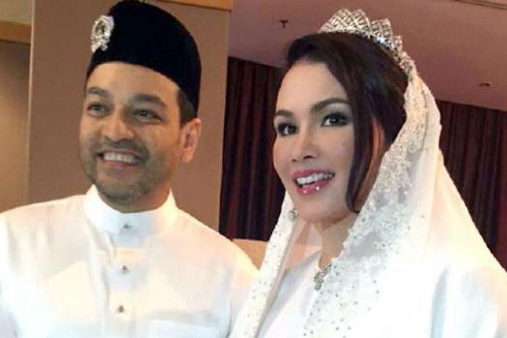 SELAMAT DIIJAB KABUL: Ini merupakan perkahwinan kedua bagi Sarimah Ibrahim dan pasangannya Tunku Nadzimuddin Tunku Mudzaffar. - Foto BHM