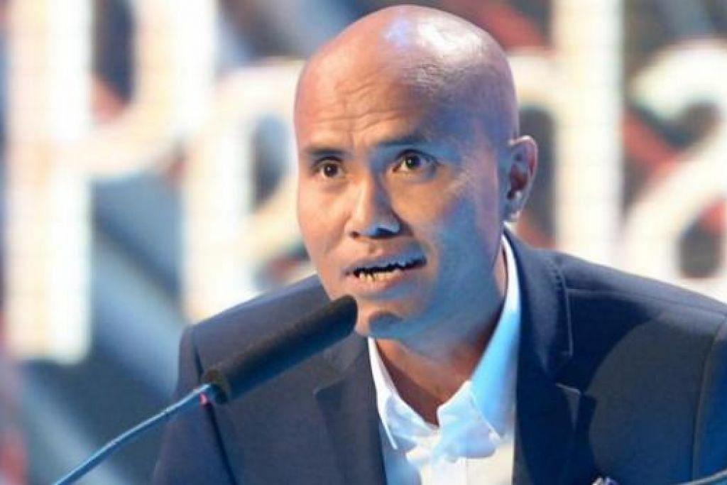 ARAHAN TERBAIK: Sanif Olek membawa balik gelaran anugerah Arahan Terbaik - Drama bagi drama 'Bingit Siri 2: Fantasi Biru'.  - Foto TUKIMAN WARJI