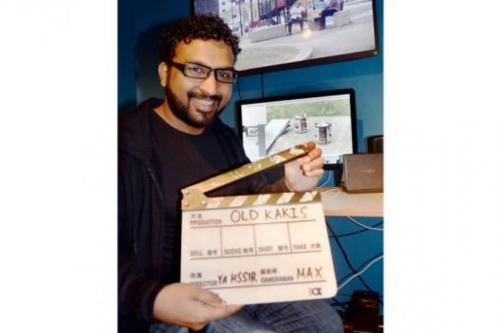 ENCIK N. MOHAMED YAHSSIR: Beliau menghasilkan filem pendek 'Old Kakis' bagi acara pelancaran pertandingan filem pendek, ciNE65. - Foto JOHARI RAHMAT