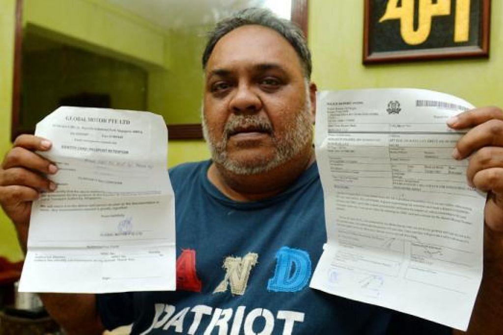 HANYA INGIN WANG CENGKERAM DAN IC DIPULANGKAN: Encik Shahril telah melaporkan pengalaman beliau kepada pihak Case dan polis. - Foto M.O. SALLEH
