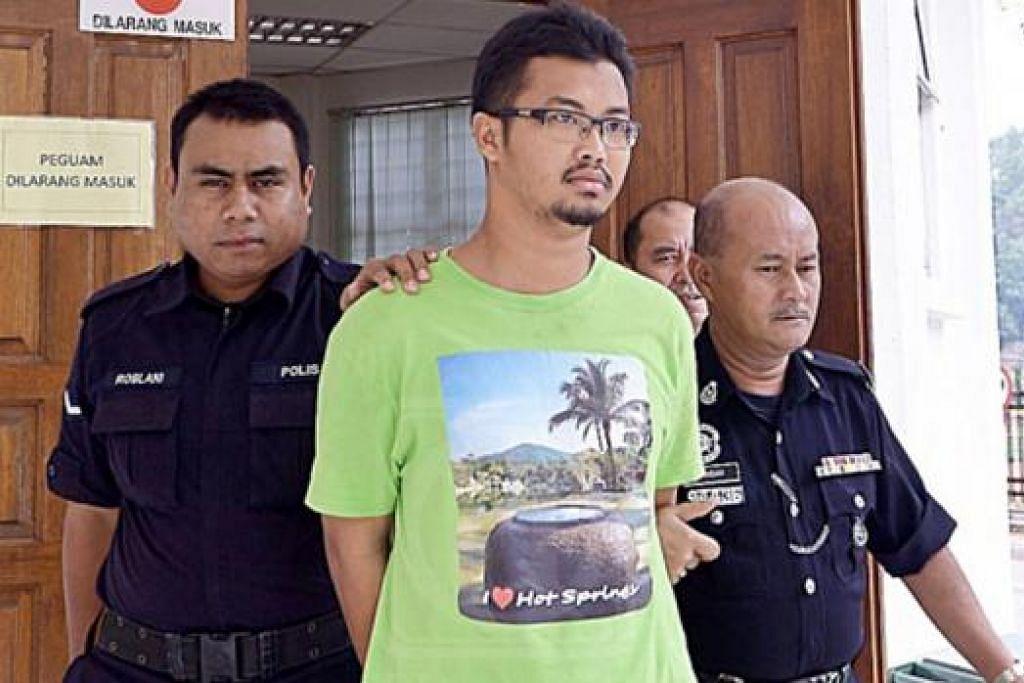 DIGIRING KE MAHKAMAH: Abdul Ra'of dibawa ke Mahkamah Kuala Kubu Bahru kelmarin. – Foto UTUSAN MALAYSIA