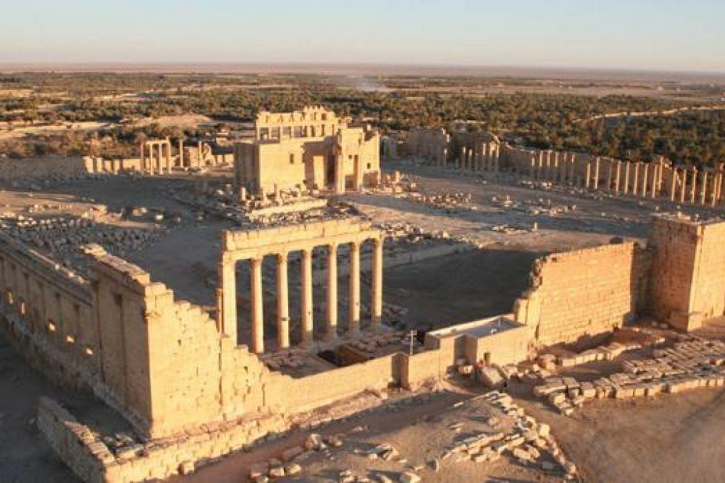 TERANCAM: Pertubuhan Pendidikan, Saintifik dan Kebudayaan Bangsa-Bangsa Bersatu (Unesco) memberi amaran kemusnahan bandar purba Palmyra ini merupakan satu kehilangan besar bagi dunia. - Foto AFP