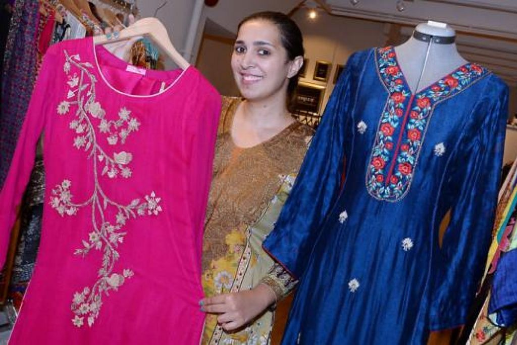 HANYA SATU: Butik Sempre milik Cik Mahjabeen di Haji Lane merupakan butik pakaian Pakistan pertama di Singapura.