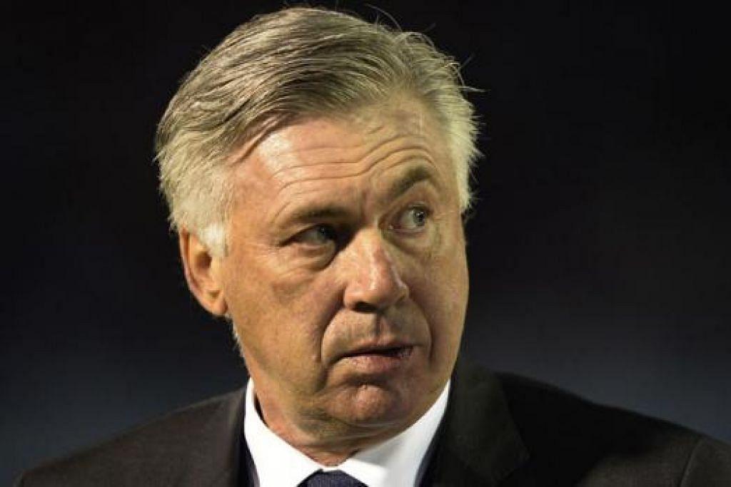 CARLO ANCELOTTI: Jurulatih Real Madrid ini akui sebelum ini pernah berlaku semasa beliau di Juventus, Chelsea dan di PSG apabila beliau minta untuk berhenti. - Foto AFP