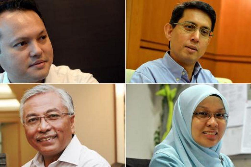 MP MELAYU SUARAKAN PANDANGAN: (Dari kiri, atas) Encik Zaqy, Dr Faishal, (dari kiri, bawah) Encik Hawazi dan Dr Intan.