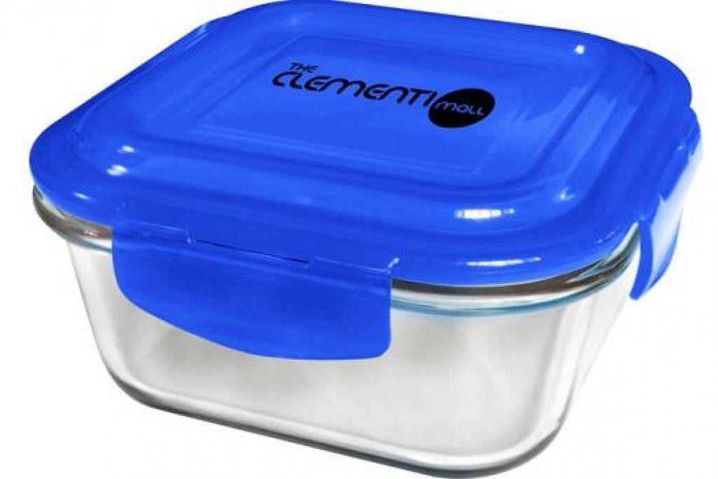 PROMOSI: Pengunjung The Clementi Mall layak menerima bekas makanan kaca dengan perbelanjaan minimum $150 atau $200. - Foto SPH