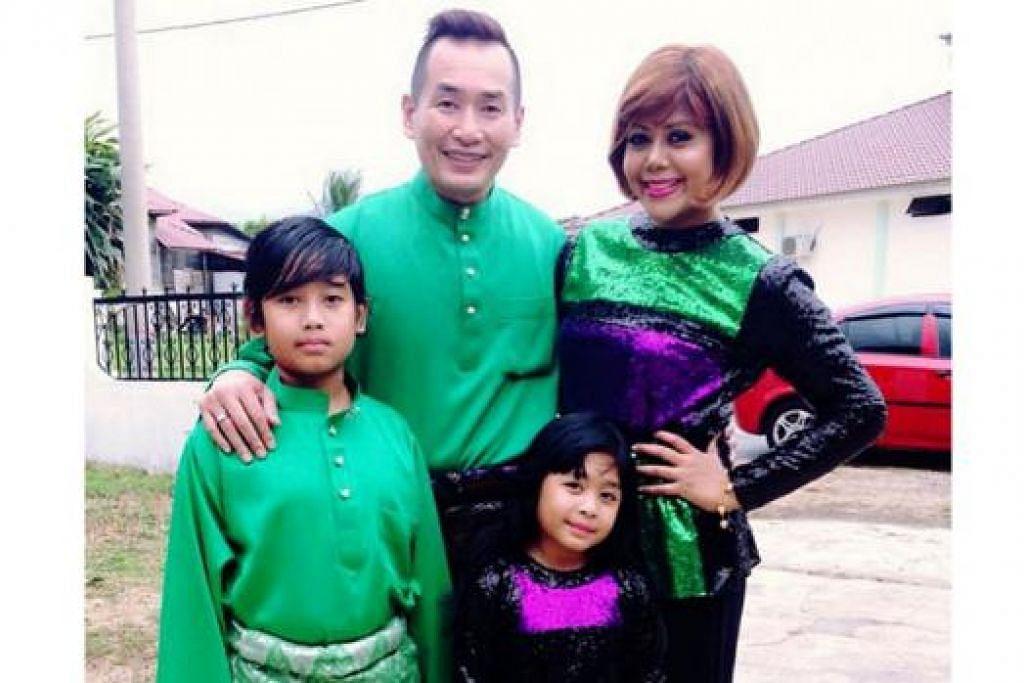 KELUARGA BAHAGIA: Datuk AC Mizal dan Datin Emylia Rosnaida akan membawa anak-anak mereka, Muhammad Reeve Damien dan Fea Eryssa bercuti di hotel sekitar Kuala Lumpur jika sibuk. - Foto MYARTIS