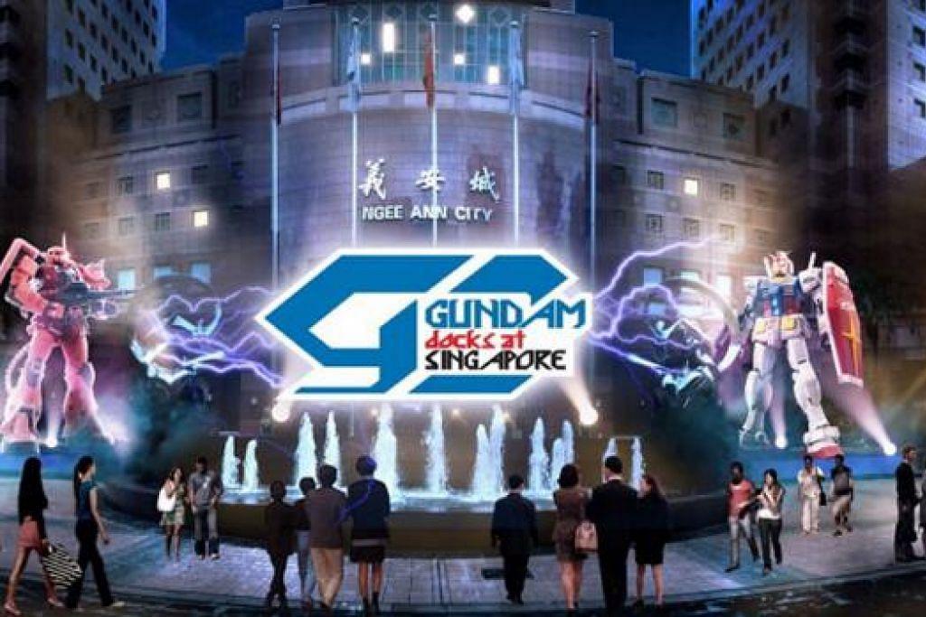 ROBOT GUNDAM: Pameran robot Jepun popular, 'Gundam Docks in Singapore', merupakan yang terbesar di Asia dan diadakan di Ngee Ann City Civic Plaza mulai hari ini hingga 28 Jun. - Foto GUNDAM DOCKS IN SINGAPORE