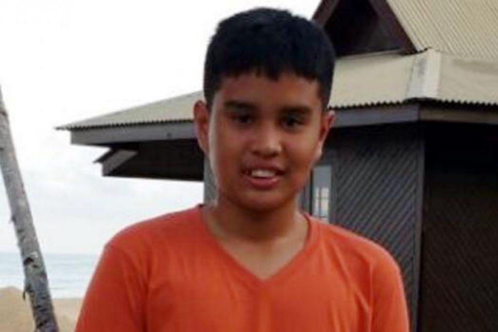 EMYR UZAYR: Salah seorang murid Sekolah Rendah Tanjong Katong yang cedera di Gunung Kinabalu. – Foto ihsan NUR ARYANA AZI