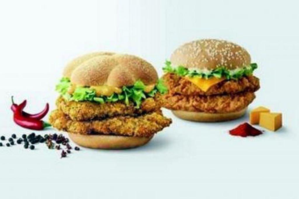 PEDAS!: Keenakan lada hitam burger 'Fiery Pepper Chicken' ini boleh membuata nda menjilat jari. - Foto MCDONALD'S