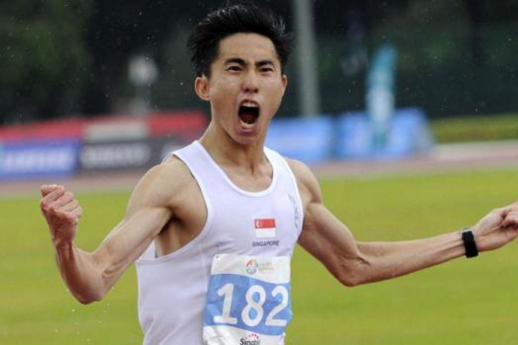 JUARA: Soh memenangi maraton Sukan SEA pada percubaan kedua.