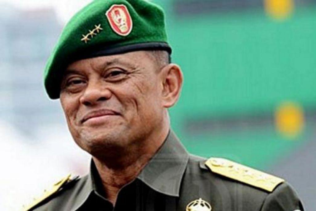 JENERAL GATOT NURMANTYO: Mengambil alih tempat Jeneral Moeldoko sebagai Ketua TNI. - Foto THE JAKARTA POST