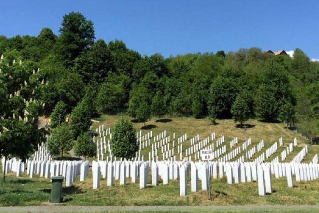 Tanah Perkuburan Perang di Srebrenica-Potocari untuk memperingati mangsa pembunuhan beramai-ramai ke atas kaum Bosnia oleh tentera Serb. - Foto RUKAIYAH AHMID