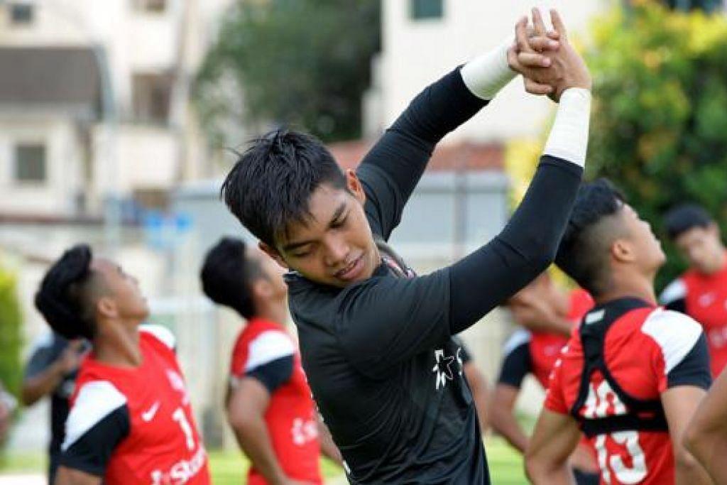 FOKUS PADA MSL: Selepas menafikan barisan penyerang Jepun semasa Kelayakan Piala Dunia 2018, Izwan kini menumpukan usahanya membantu LionsXII dalam kempen Liga Super Malaysia. - Foto M.O. SALLEH