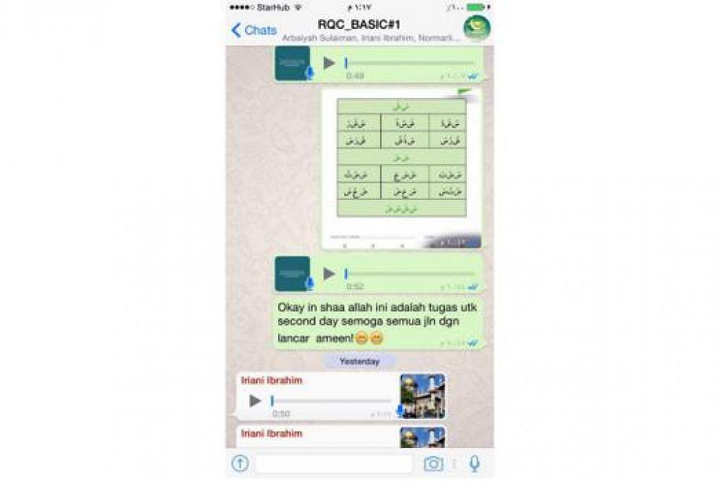 PERBAIKI BACAAN: Peserta yang menyertai Cabaran Al-Quran Ramadan (RQC) akan menerima cabaran bacaan baru setiap hari menerusi WhatsApp sepanjang Ramadan ini. - Foto RAMADAN QURANIC CHALLENGE