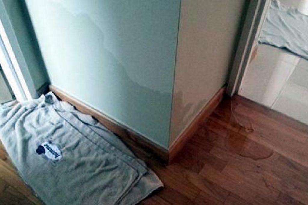 KURANG MEMUASKAN: Penghuni Tampines Centrale 8 mendapat kunci rumah mereka pada Jun tahun lalu tetapi mendapati kekurangan seperti pemegang pintu berkarat, jubin tidak rata dan tandas tersumbat. - Foto THE STRAITS TIMES